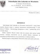 Referencje - Dolnośląski Izba Lekarska